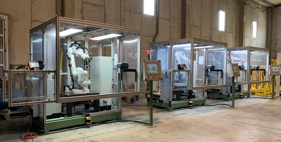 Celda robotizada de visión para inspección de pieza