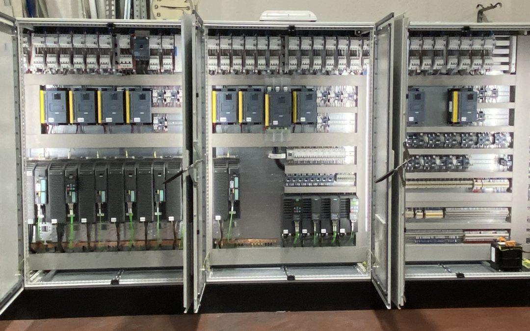 Armario eléctrico de control de la elaboración de pasta de papel